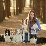 Gina Shawhan with her dogs