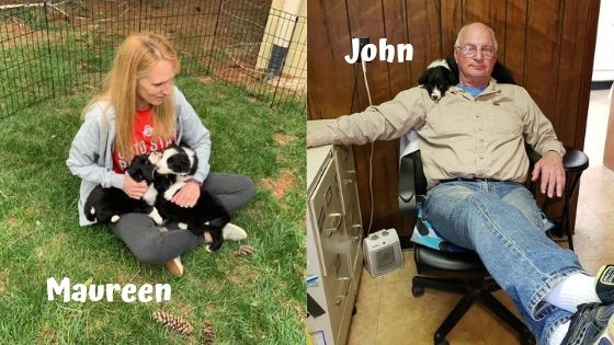 Maureen and John Reilly Big Times Kennel owners Positive Pet Boarding