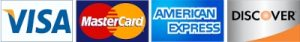 Credit cards now accepted - Mastercard, Visa, Discover